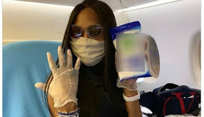 Menghindari sakit di pesawat terbang ala Naomi Campbell