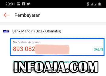 Nomor Virtual Account ShopeePay