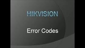 Hikvision error code 7