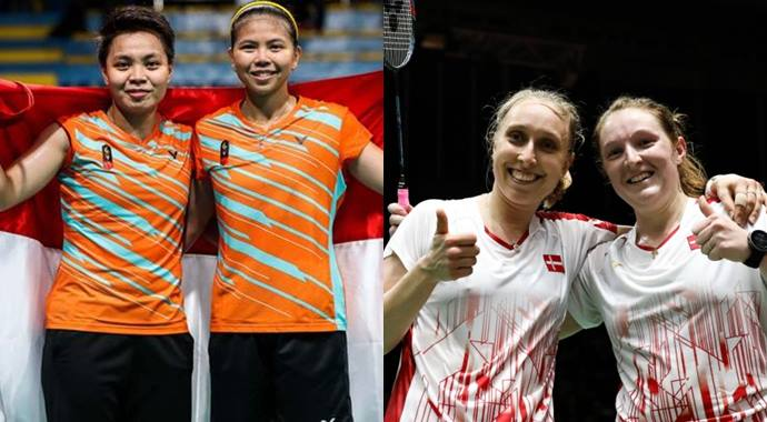 Apriyani Rahayu-Greysia Polii vs Maiken Fruergaard-Sara Thygesen di final Indonesia Masters 2020
