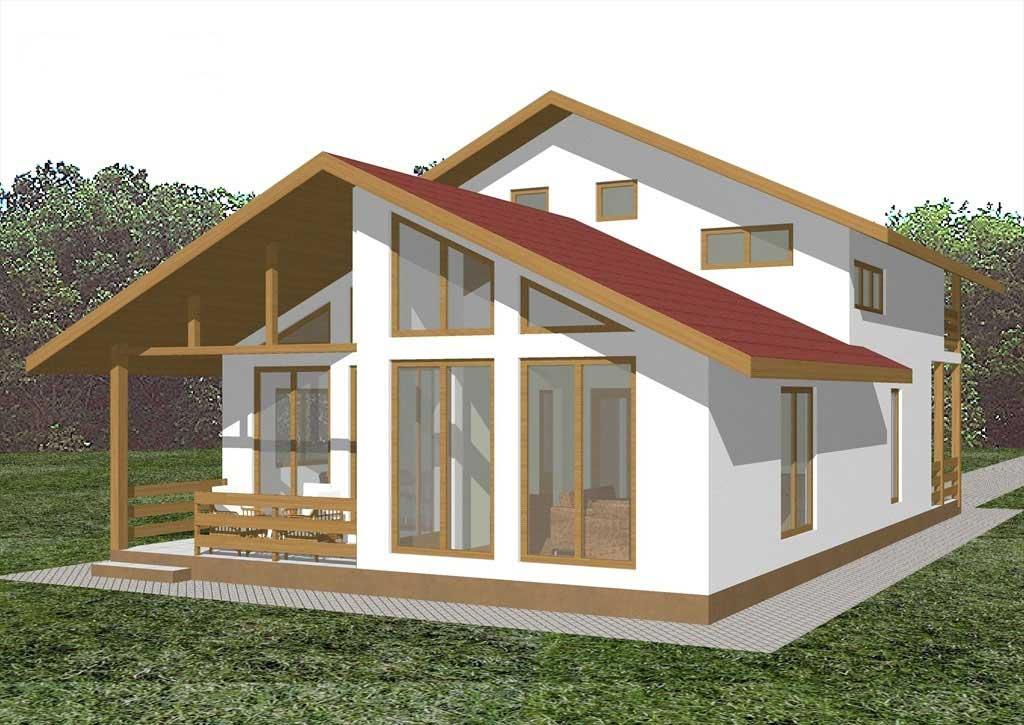 Planos y fachadas de casa de vacaciones de dos plantas for Planos y fachadas de casas pequenas de dos plantas