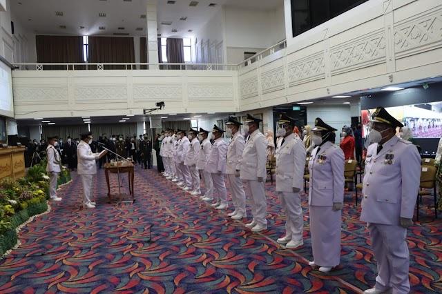 Gubernur Lampung Arinal Djunaidi Lantik 7 Kepala Daerah Hasil Pilkada 2020