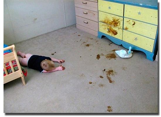 As fotos mais estranhas e inexplicáveis de todos os tempos - parte 2 - Bebê porcalhão
