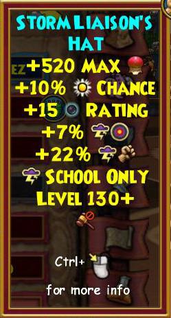 Wizard101 Level 130+ Arcanum Karamelle Gear