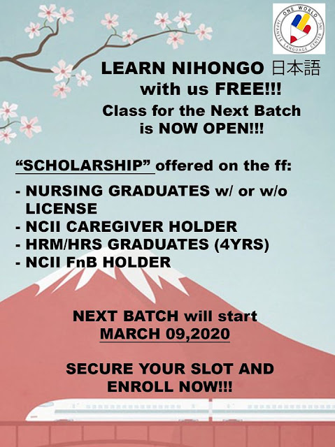 Nihongo Free | Next Batch is now OPEN