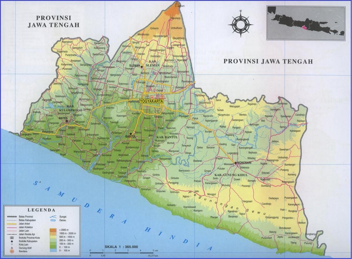 Peta Yogyakarta DIY