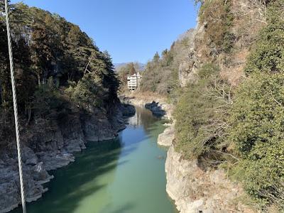 つつじ橋から見た天竜峡 上流方向