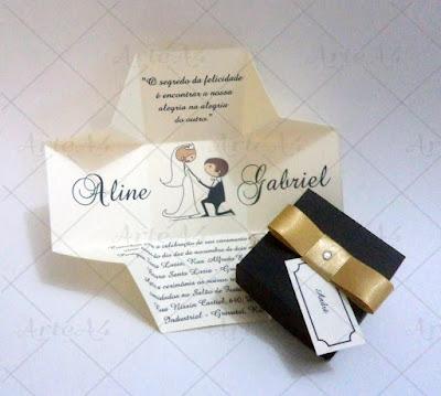 2-convite de casamento personalizado na caixinha
