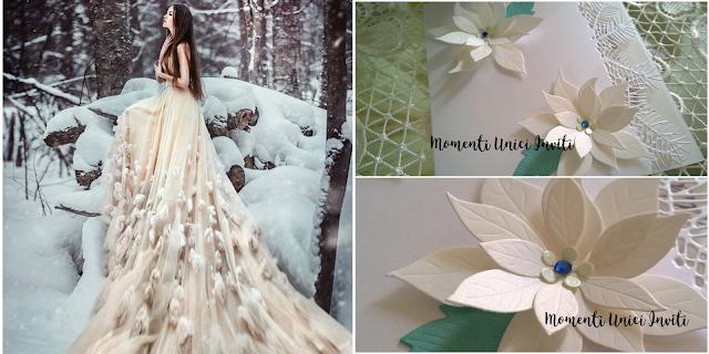 114 Matrimonio d'inverno... le nostre proposte per i vostri inviti!Colore Bianco Colore Blu cover libretti Nozze d'Inverno Partecipazioni intagliate