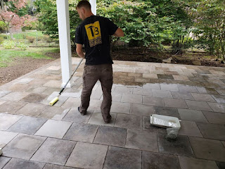 easy application of concrete decking tile sealer