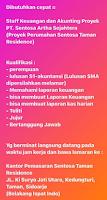 Loker Surabaya di PT. Sentosa Artha Sejahtera Januari 2021