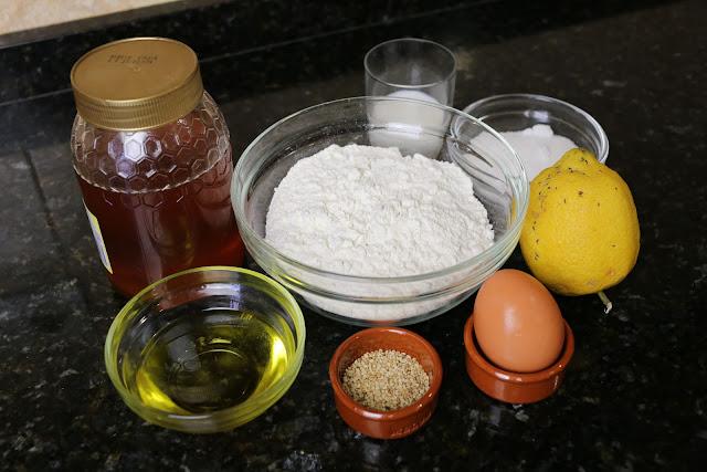 Ingredientes para palillos de leche con miel