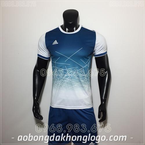 Áo Bóng Đá Ko Logo Adidas QT Tím Than 2019