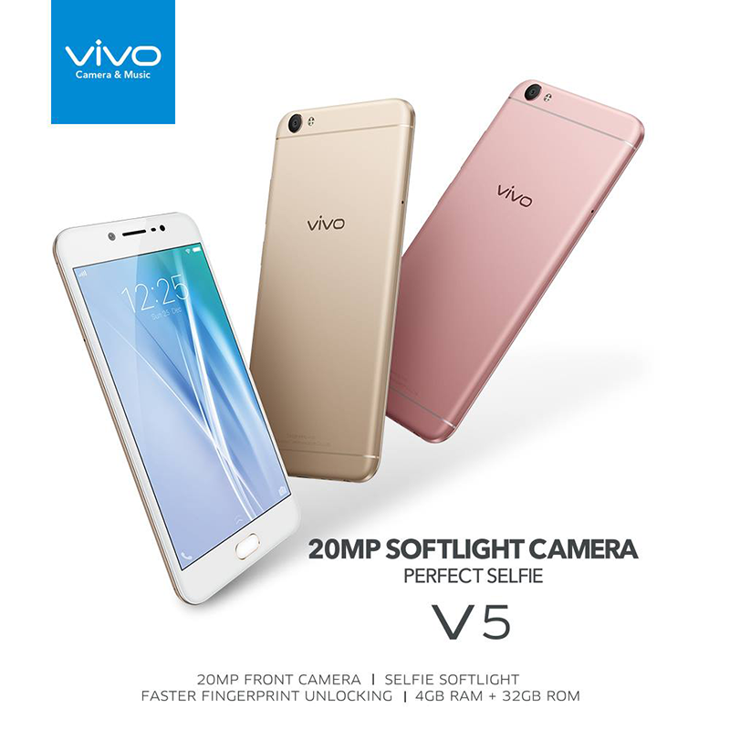 Vivo V5 in different colors