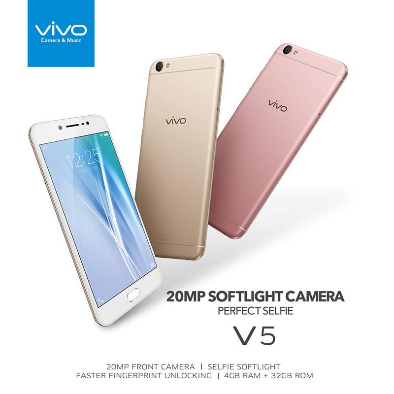 Vivo V5 in different colors