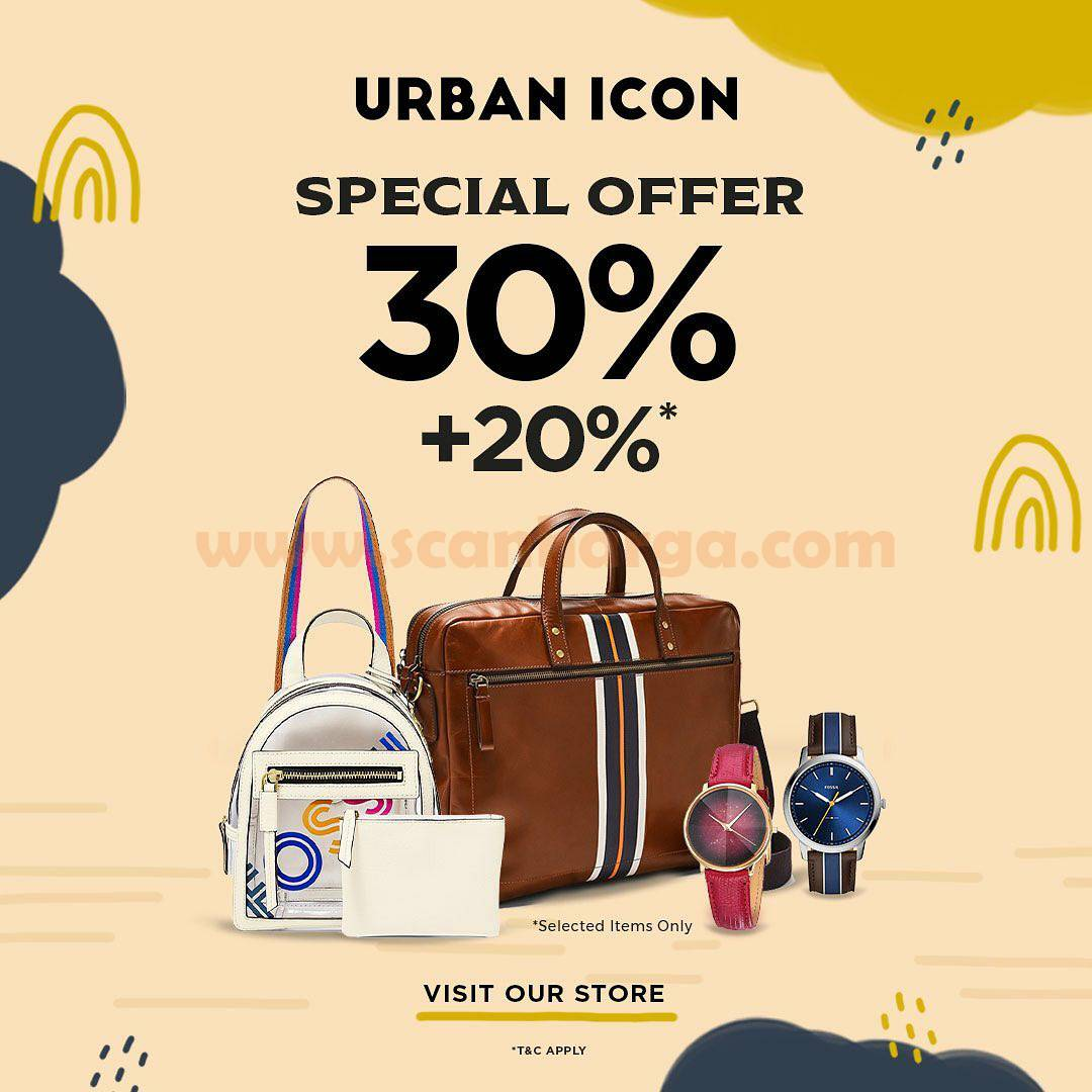 Promo Urban Icon Special Offer Discount 30% + 20% Off