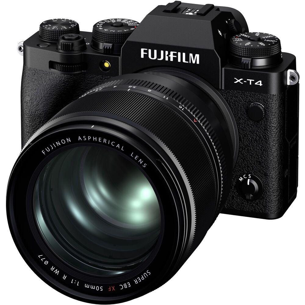 Объектив Fujifilm Fujinon XF 50mm f/1 R WR с камерой X-T4