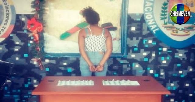 Quinceañera detenida con 57 envoltorios de la droga Crispy en Falcón