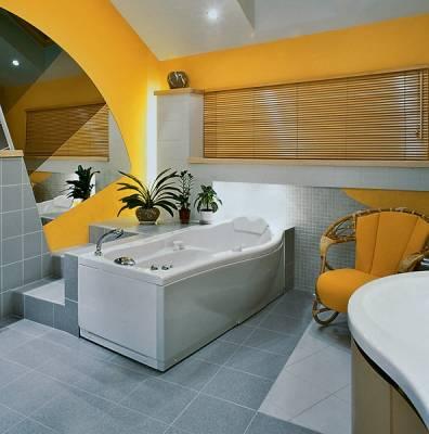 ванные комнаты крашенные