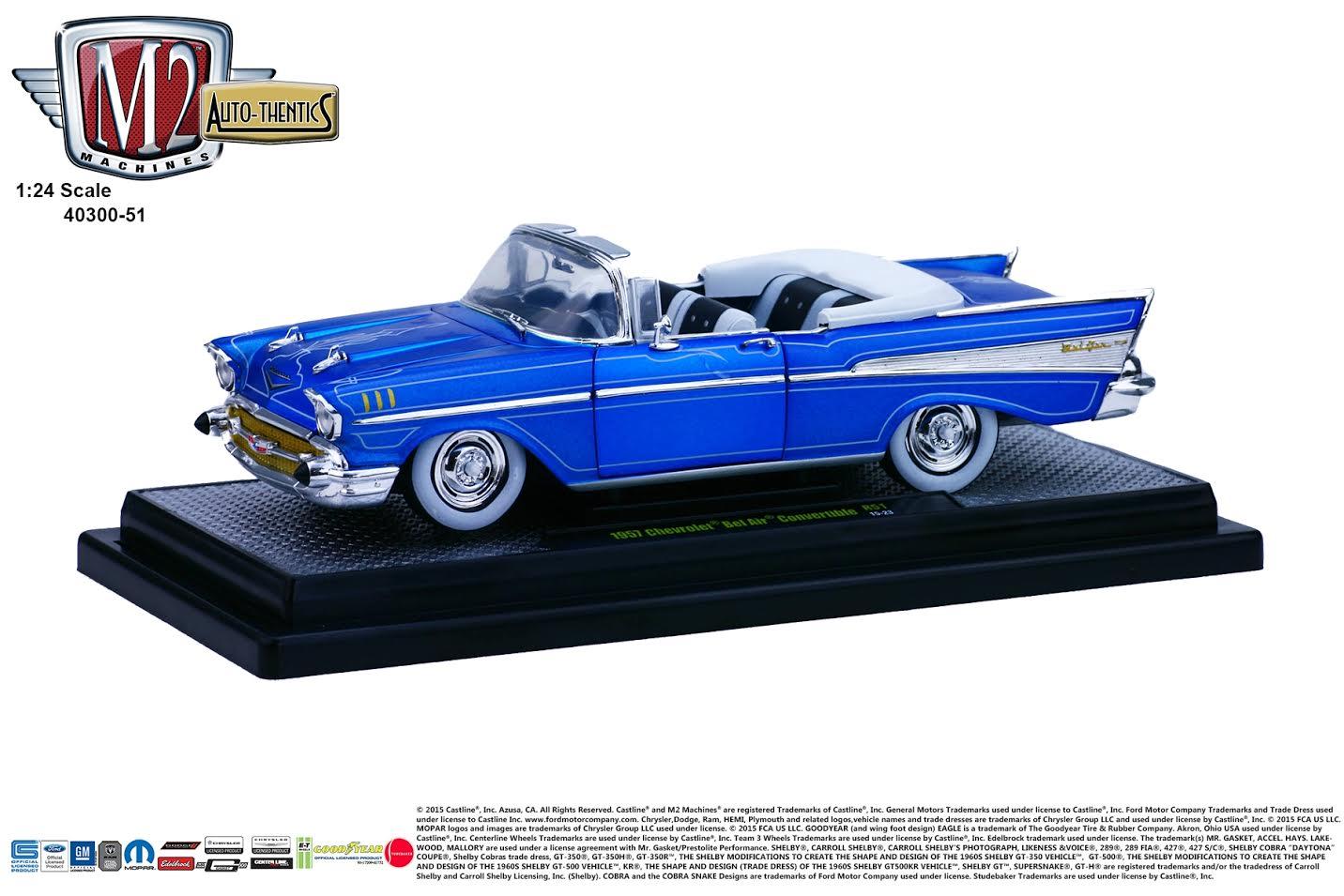 Diecast Cars 1 64 Modellautos 164 Modellbilar Mrz 2016 1957 Chevy Bel Air Convertible Lowrider M2 Machines News 24 Release 51a B Chevrolet
