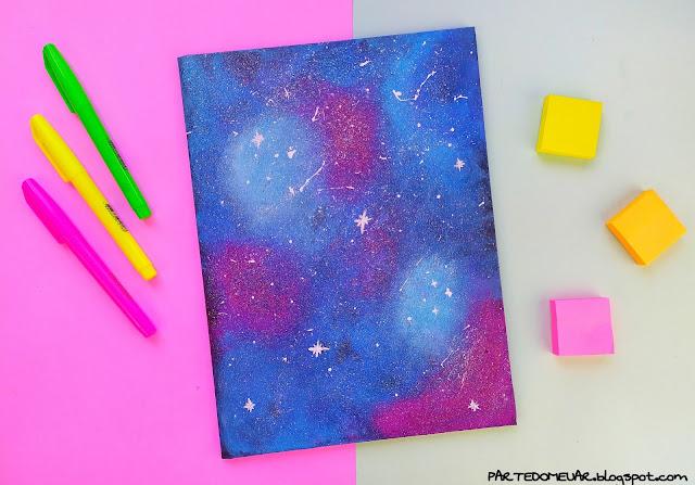 cadernos personalizados tumblr galaxia