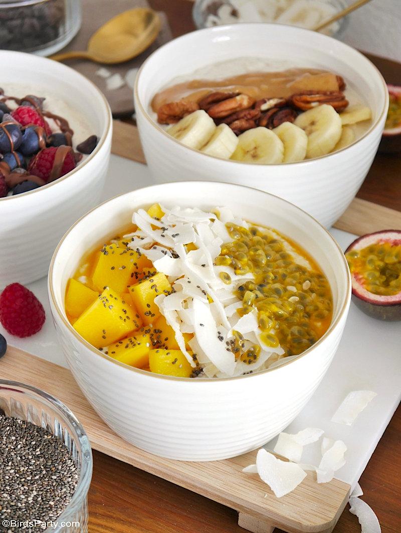 Décor de Table Pour Un Brunch d'Hiver + Recettes Porridge d'Avoine - des idées de bricolage faciles pour habiller une jolie table d'hiver pour le brunch ou petit-déjeuner! by BirdsParty.com @birdsparty #porridge #avoine #recette #petitdejeunersain #recettesaine #recettehealthy #brunchhiver #recettehiver #recetteporridge