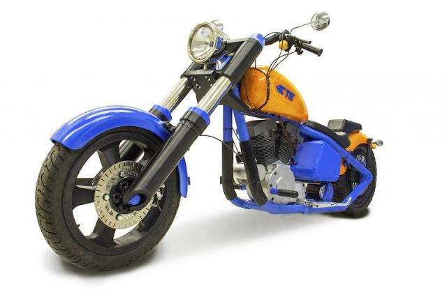 мотоцикл напечатан на 3D-принтере