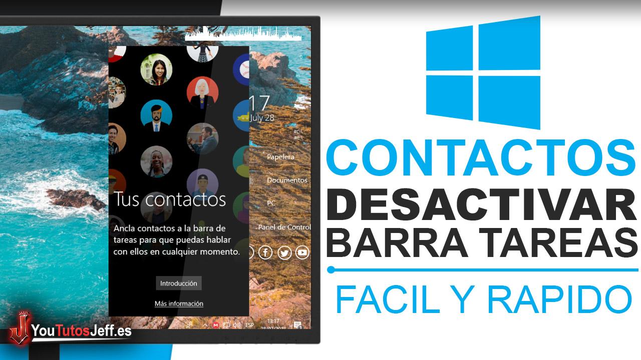 Como Desactivar Contactos en la Barra de Tareas Windows 10 Fall Creators - Trucos Windows 10