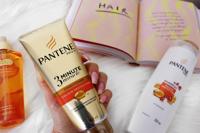 pantene pro-v, conditioner, 3 minute miracle, haircare, hair, colour protection