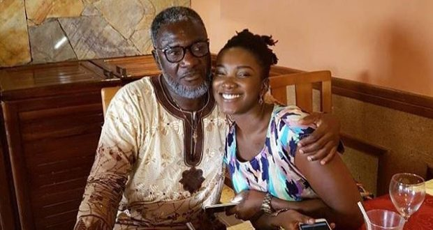 The late Ebony Reigns and Her Father, Nana Opoku Kwarteng