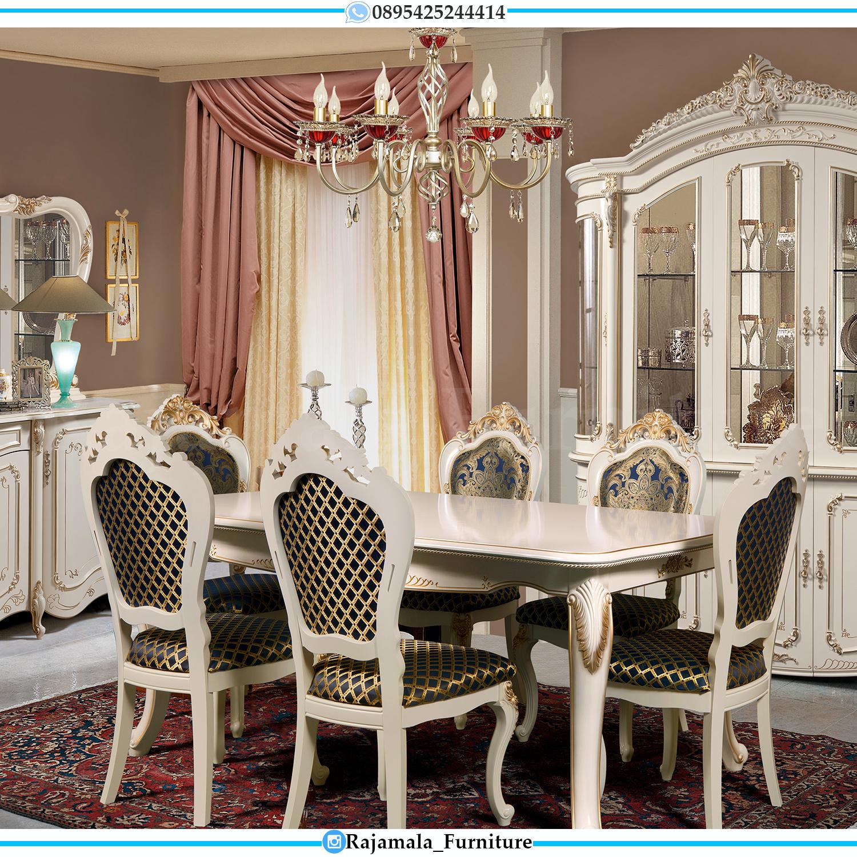 Set Meja Makan Mewah Ukir Jepara Luxury Classic Best Seller RM-0121