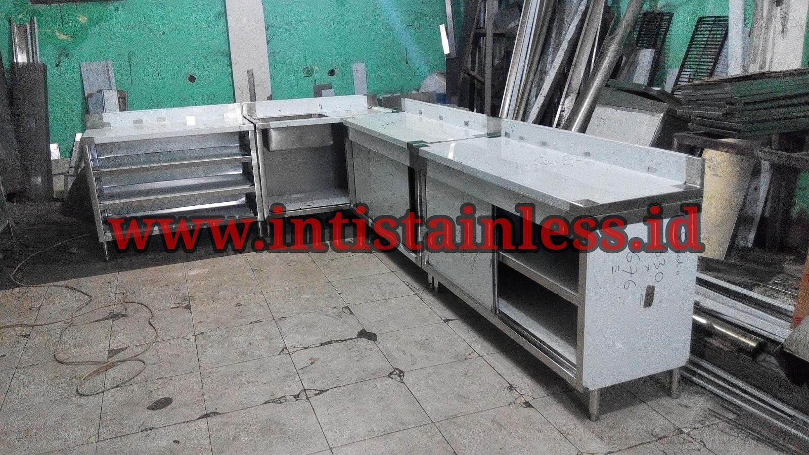 Jual meja stainless dan peralatan dapur restoran dari for Jual kitchen set stainless steel
