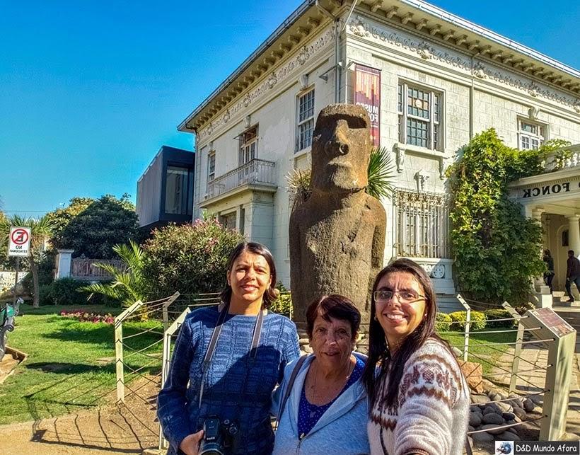 Moai original da Ilha de Páscoa em Viña del Mar - Diário de Bordo Chile: 8 dias em Santiago e arredores