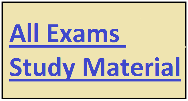 All Exams Study Material