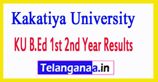 Kakatiya University KU B.Ed Exam Results