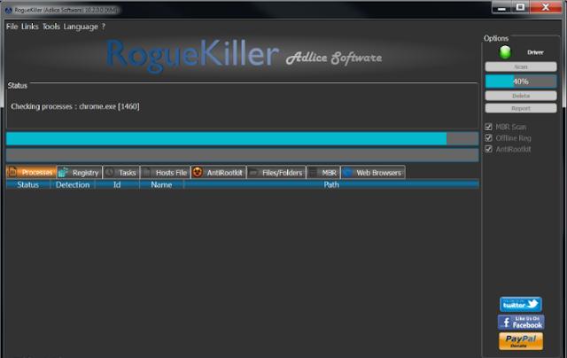 تحميل برنامج فحص الفيروسات وحذفها مجانا RogueKiller