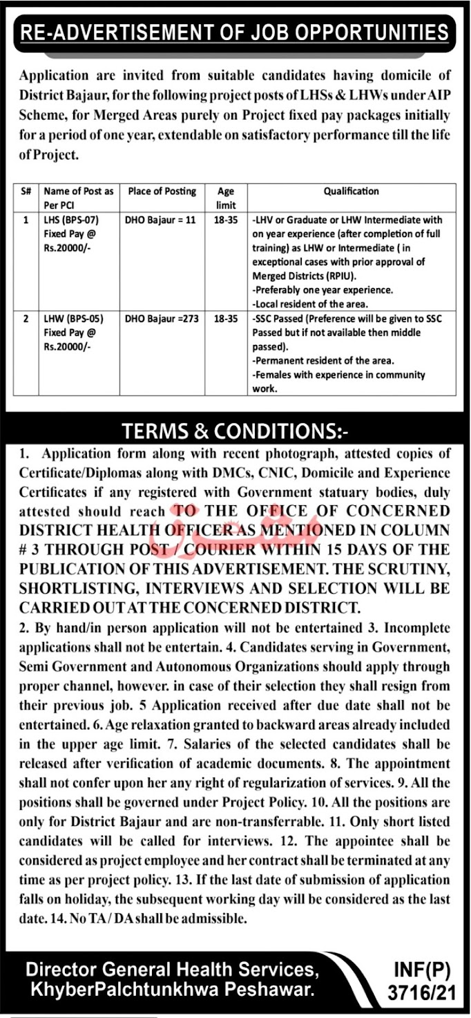 Latest Jobs in District Health Authority DHA - Health Department 2021