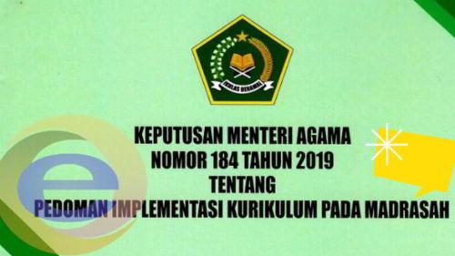 Download KMA Nomor 184 Tentang Pedoman Implementasi Kurikulum Pada Madrasah
