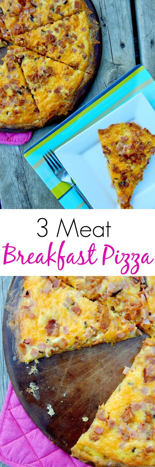 3 meat breakfast pizza (sweetandsavoryfood.com)