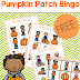 Pumpkin Patch BINGO Game for Preschoolers