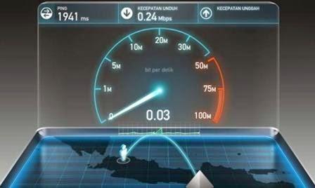 Hasil tes kecepatan internet