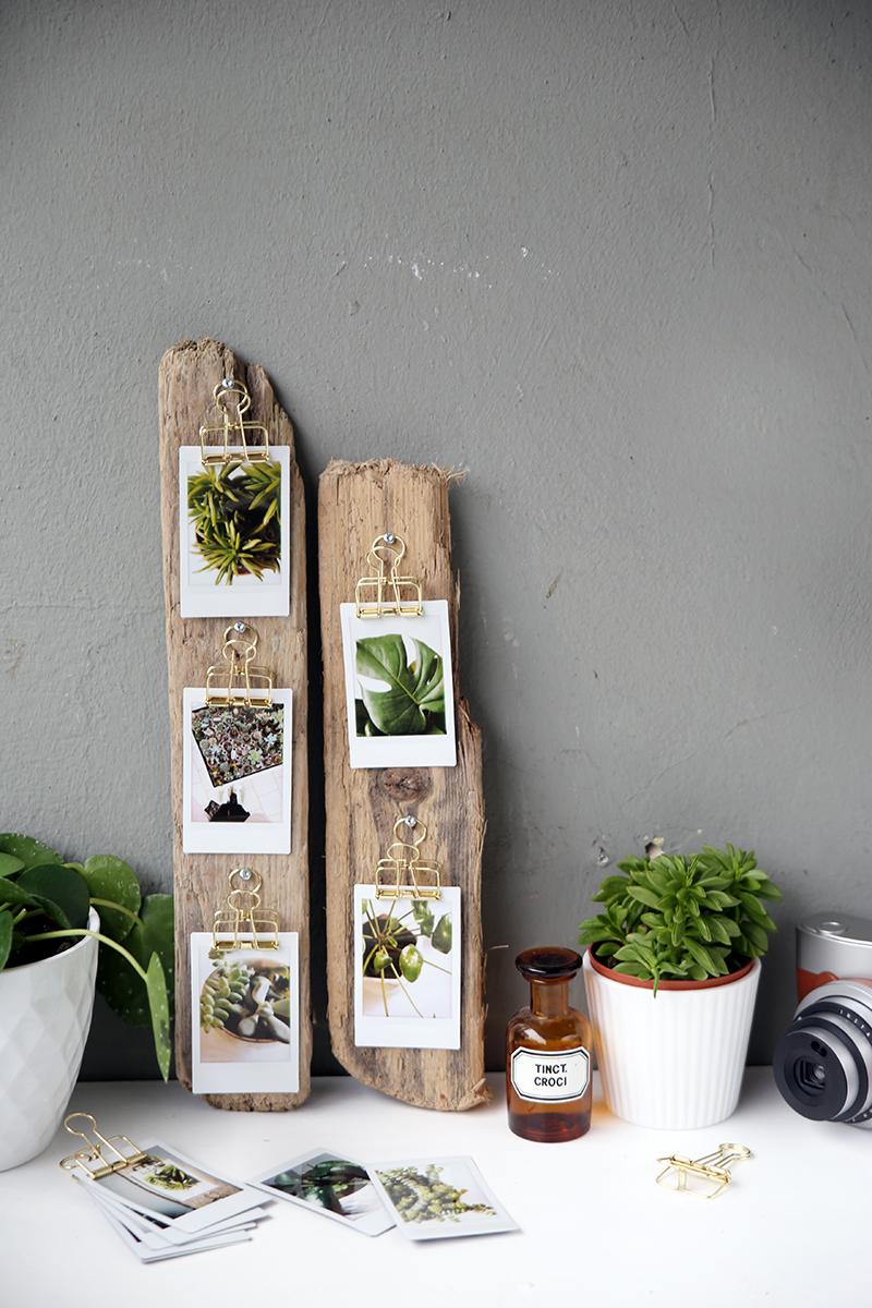 DIY-Geschenkidee: Treibholz mit Fotos