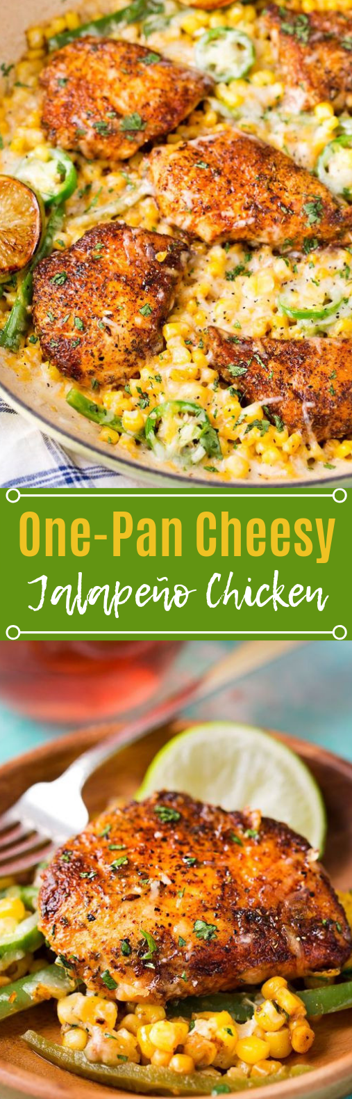 One Pan Cheesy Jalapeño Chicken #dinner #easyrecipe