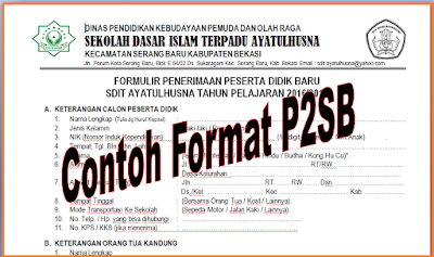 Download Contoh Format PSB 2016/2017