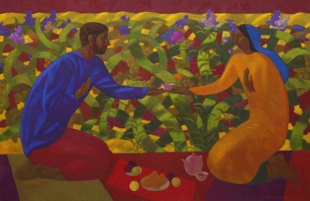 Таджикский художник. Азам Атаханов