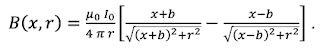 A mathematical expression for the magnetic field produced by a nerve axon.