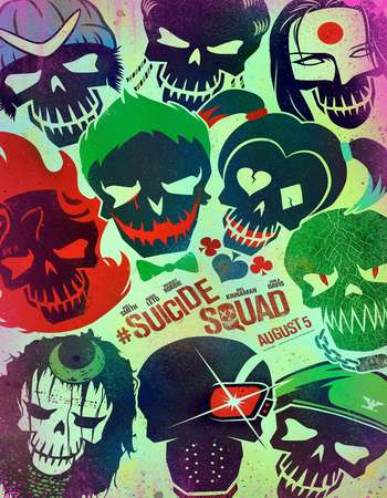 Poster Of Suicide Squad 2016 English 700MB Cam x264 Free Download Watch Online Worldfree4u