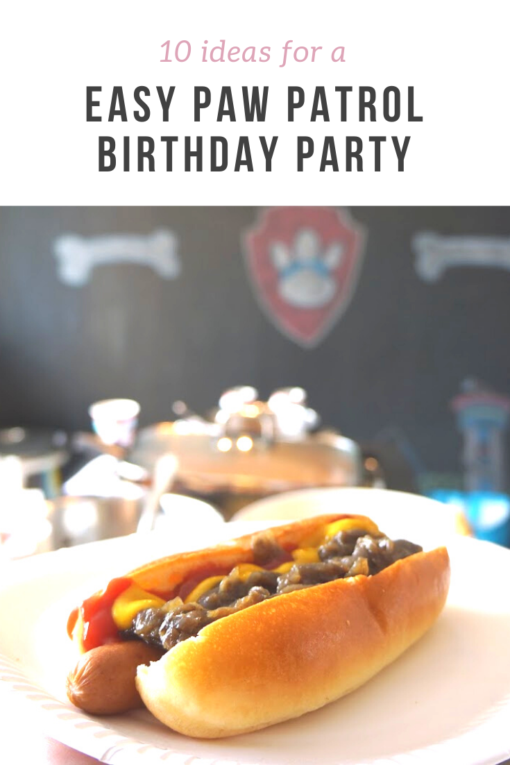 10 easy-to-do ideas for a toddler friendly Paw Patrol birthday party, including food, entertainment, decoration and party bags!