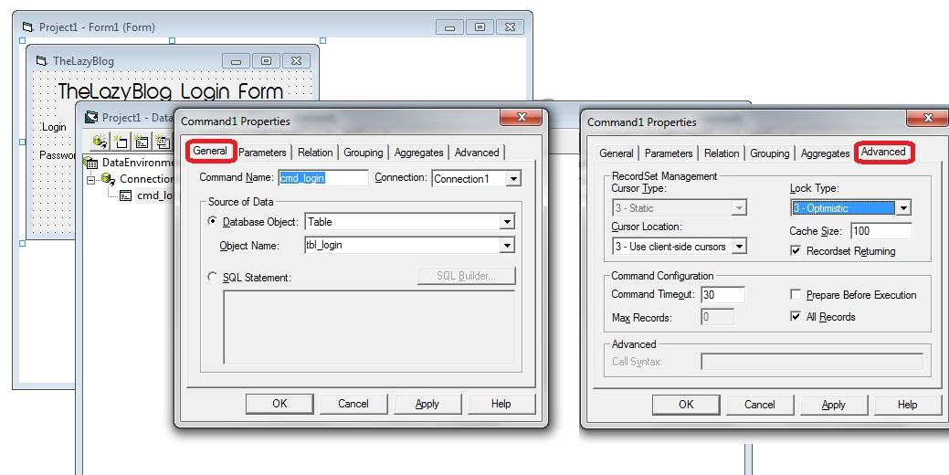 login database design