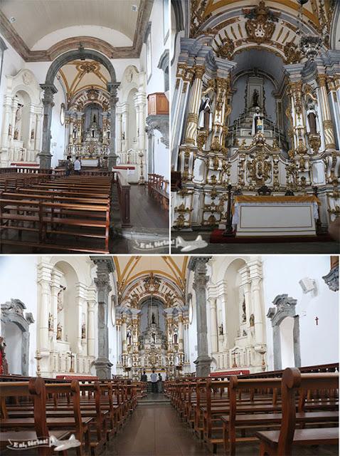 Interior da Igreja Nossa Senhora do Carmo, Praça Minas Gerais, Mariana, Minas Gerais.